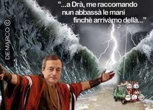 MARIO DRAGHI IL TRAGHETTATORE BY DEMARCO