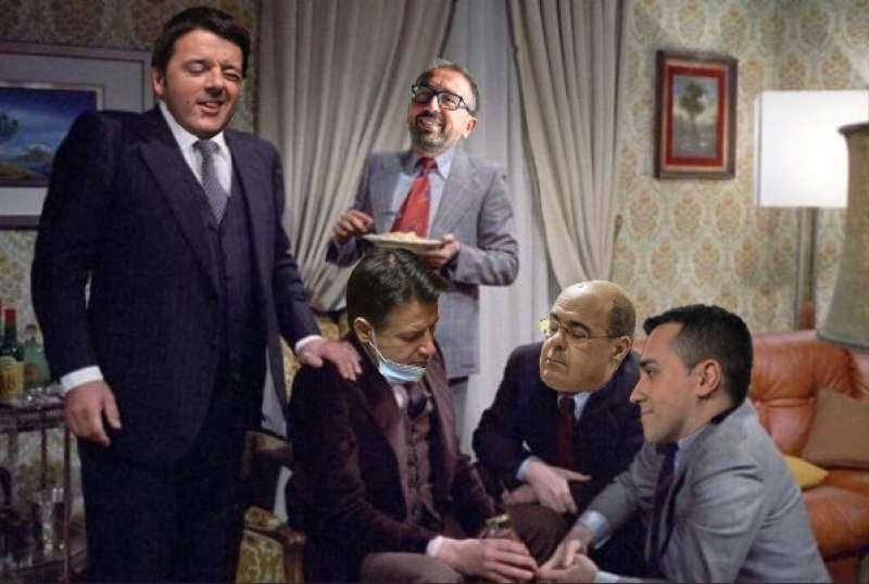 MATTEO RENZI ALFONSO BONAFEDE GIUSEPPE CONTE NICOLA ZINGARETTI LUIGI DI MAIO – AMICI MIEI