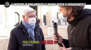 paolo romani redditometro dei politici le iene