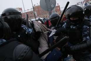 proteste per la liberazione di navalny in russia 1
