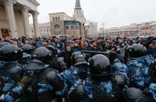 proteste per la liberazione di navalny in russia 2