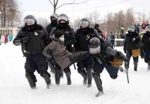 proteste per la liberazione di navalny in russia 3