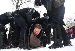proteste per la liberazione di navalny in russia 4