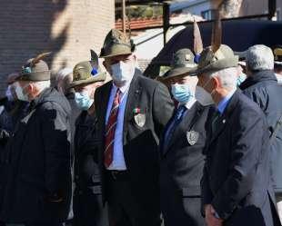 rappresentanza degli alpini per franco marini foto di bacco