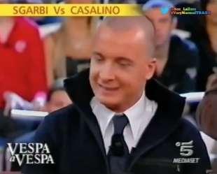 rocco casalino vs vittorio sgarbi buona domenica 2006