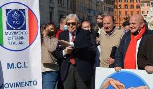 sgarbi con i movimenti che appoggiano la sua candidatura a sindaco di roma foto di bacco (4)