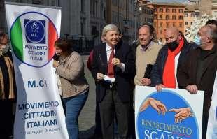 sgarbi con i movimenti che appoggiano la sua candidatura a sindaco di roma foto di bacco (2)