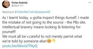 vivian kubrick twitta teorie complottiste 1