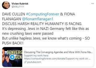 vivian kubrick twitta teorie complottiste 2