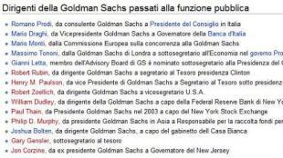 GOLDMAN SACHS DE' NOANTRI: PRODI, LETTA, DRAGHI