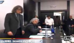 GRILLO E CASALEGGIO ALLA RIUNIONE DEI PARLAMENTARI GRILLINI A ROMA