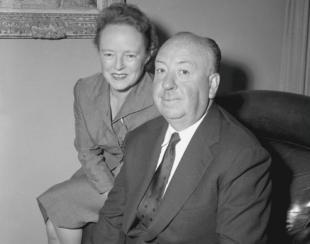 Hitchcock e la moglie Alma