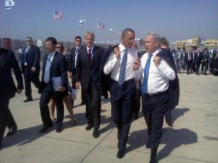 OBAMA ARRIVA IN ISRAELE ACCOLTO DA NETANYAHU
