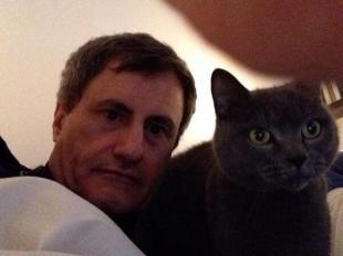 alemanno selfie col gatto