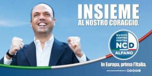 Angelino Alfano CARTELLONE ELETTORALE NCD