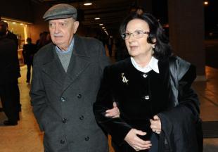 Emanuele Macaluso e moglie