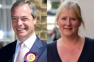 Nigel Farage e la moglie Kirsten