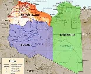 libia divisione cirenaica tripolitania fezzan