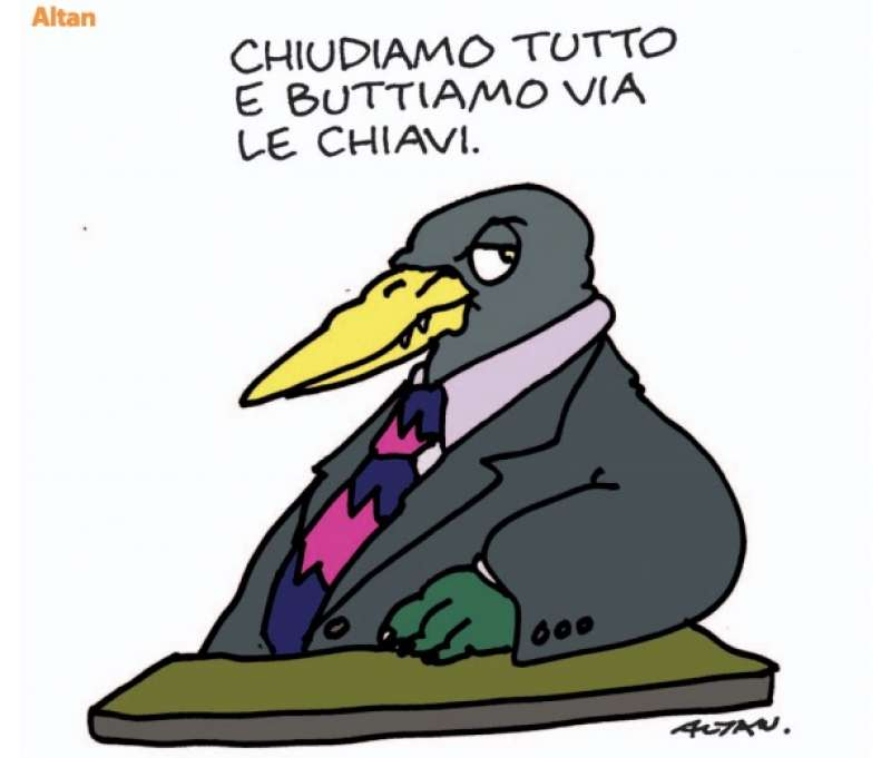La vignetta di altan sull italia e il coronavirus - Dago fotogallery