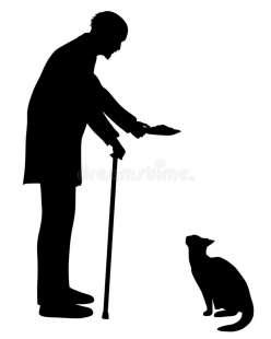 anziano e gatto 2