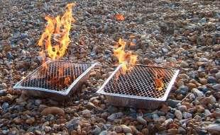 barbecue in spiaggia a brighton
