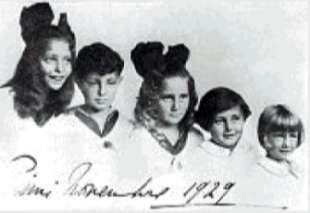 CLARA - GIANNI - SUSANNA - MARIA SOLE - CRISTIANA AGNELLI NEL 1929