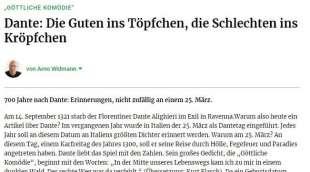 Frankfurter Rundschau contro dante