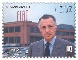Gianni Agnelli francobollo