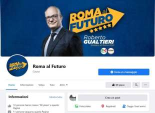 LA PAGINA FACEBOOK PER LA CANDIDATURA DI ROBERTO GUALTIERI A ROMA