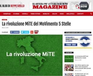 LA RIVOLUZIONE MITE DEL M5S - DAL BLOG DI BEPPE GRILLO