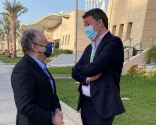 matteo renzi con jean todt al gran premio del bahrein
