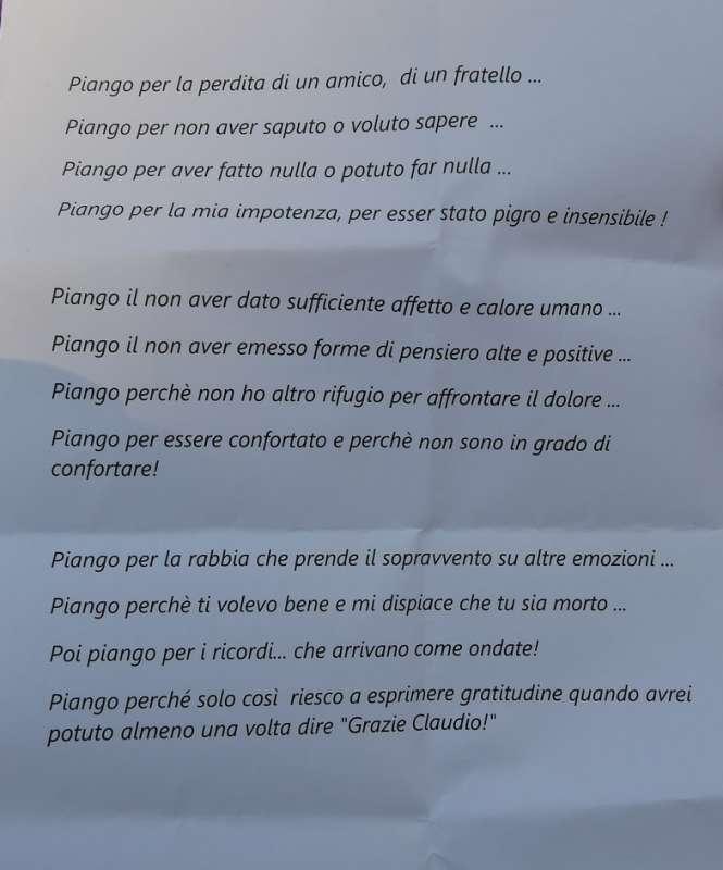 poesia di claudio casalini per l amico claudio coccoluto foto di bacco