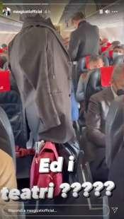 story di max giusti sul volo roma milano 8
