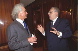 Lorenzetto con Luciano Benetton