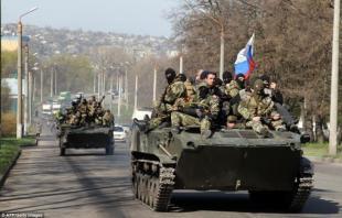 carriarmati filorussi ucraina 321949 tn Donestsk è Caduta.... in Mano ai Filo Russi