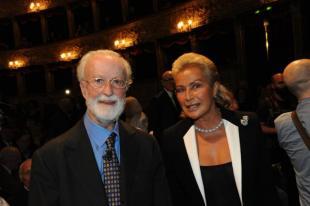 Eugenio Scalfari e Silvia Monti De Benedetti