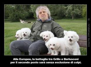 GRILLO CON I CANI