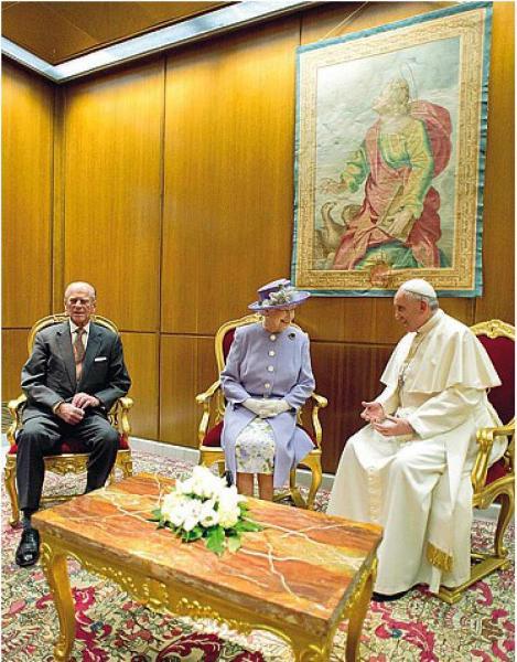 Regina Elisabetta Papa Francesco Dago Fotogallery