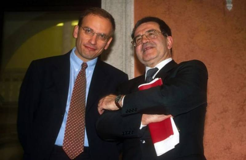 ENRICO LETTA E ROMANO PRODI