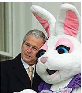 GEORGE BUSH CON EASTER BUNNY