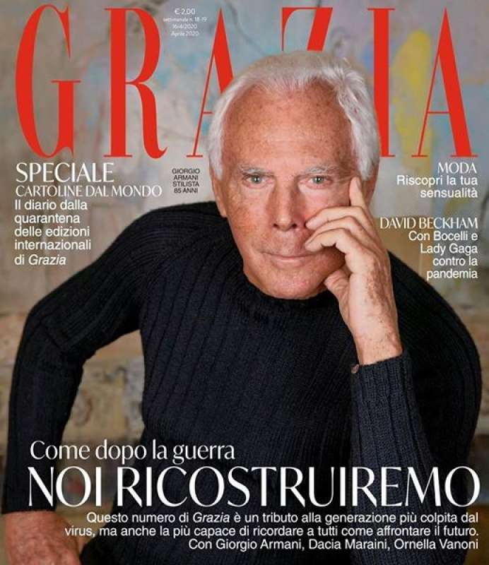 Giorgio Armani, Cover, Grazia 2020