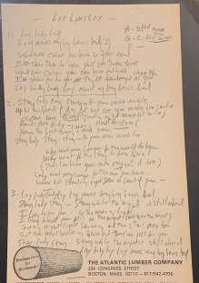 manoscritto di bob dylan 2