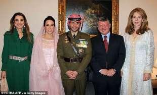 abdallah con rania al matrimonio di hamzah