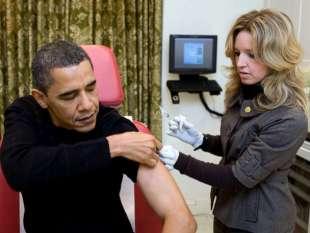 barack obama e il vaccino antinfluenzale