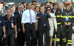 bertolaso con obama e berlusconi