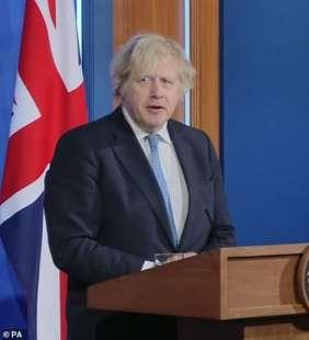 boris johnson in conferenza stampa