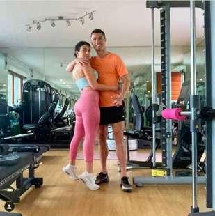 Cristiano Ronaldo con la moglie