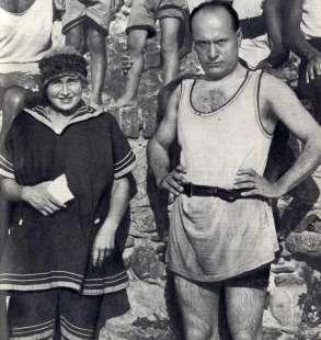 Donna Rachele e Benito Mussolini