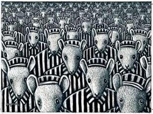 ebrei raffigurati come topi