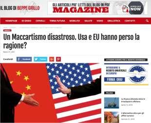 FABIO MASSIMO PARENTI CONTRO BIDEN SUL BLOG DI BEPPE GRILLO